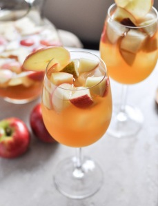 Apple Cider Sangria. Recipe and Photo by How Sweet It is.